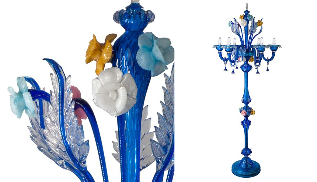 B.F SIGNORETTI MURANO GLASS Lampadaire Lampadaires Luminaires Intérieur  |