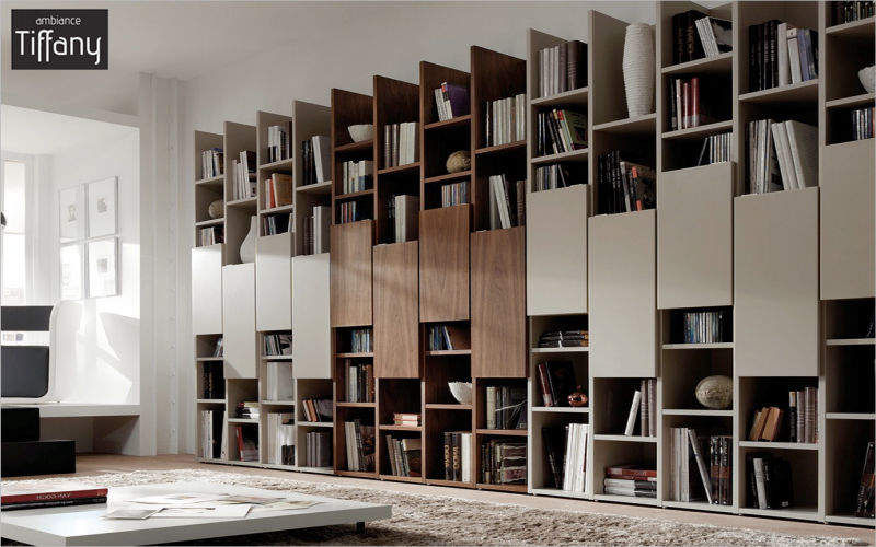 Ambiance Tiffany Bibliothèque sur mesure Bibliothèques Rangements Salon-Bar | Design Contemporain