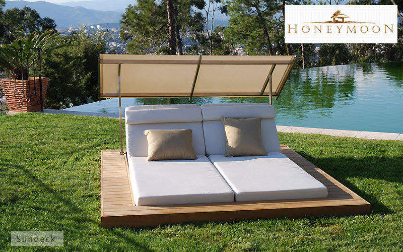 Honeymoon Bain de soleil double Chaises longues Jardin Mobilier Jardin-Piscine | Design Contemporain