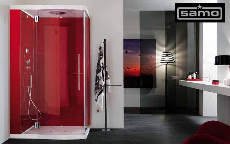 Samo Cabine de douche d'angle Douche et accessoires Bain Sanitaires Salle de bains | Contemporain