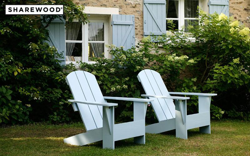 SHAREWOOD Fauteuil de jardin Fauteuils d'extérieur Jardin Mobilier Jardin-Piscine | Charme