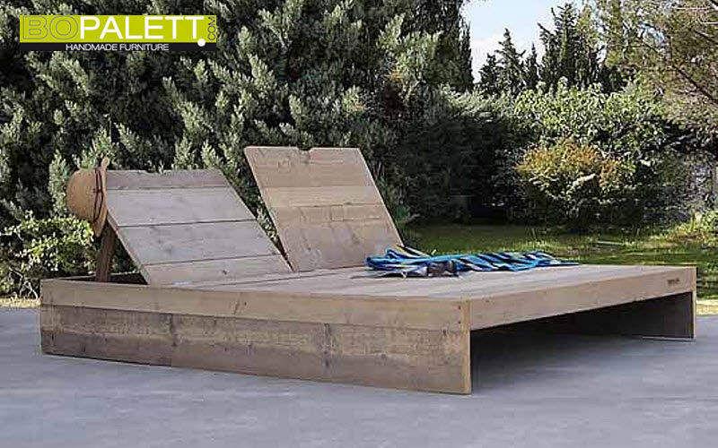 BOPALETT Bain de soleil double Chaises longues Jardin Mobilier  |