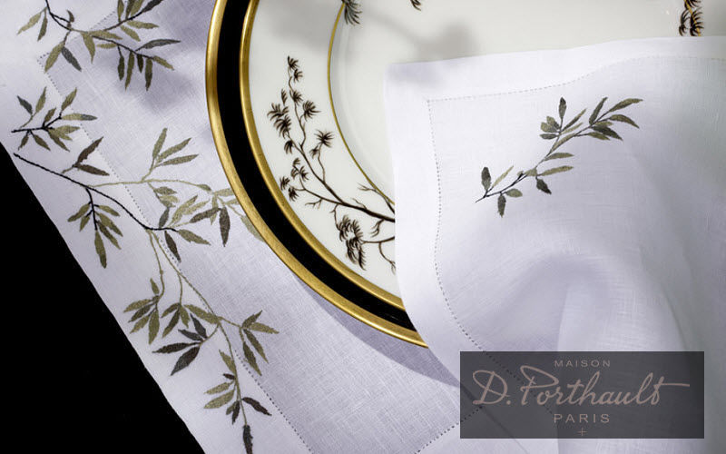 D. Porthault Set de table Sets de table Linge de Table  |