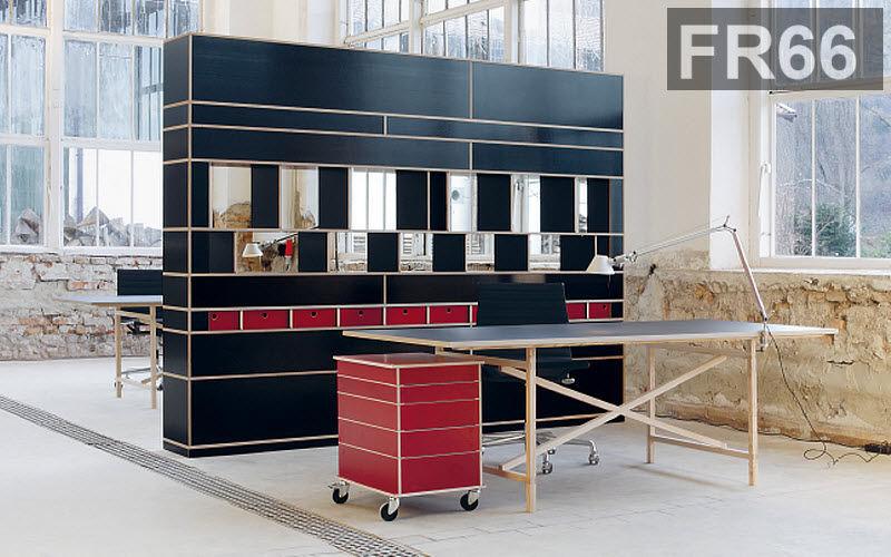 FR 66 Bibliothèque Bibliothèques Rangements Lieu de travail | Contemporain