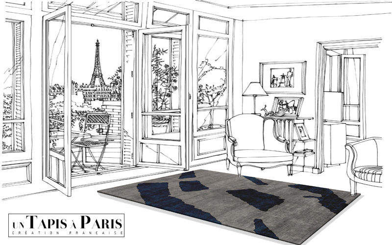 Un Tapis à Paris Tapis contemporain Tapis modernes Tapis Tapisserie Salon-Bar | Design Contemporain