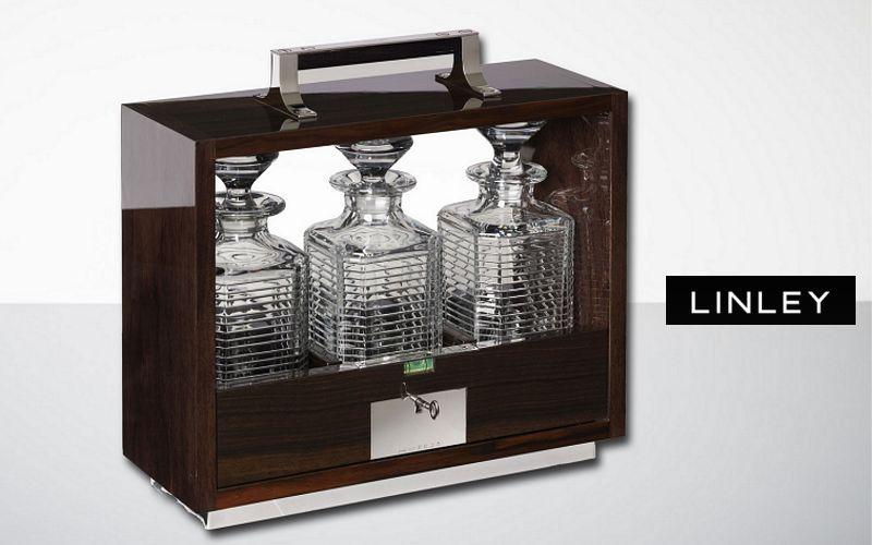 LINLEY Cave à liqueur Carafes Verrerie  |