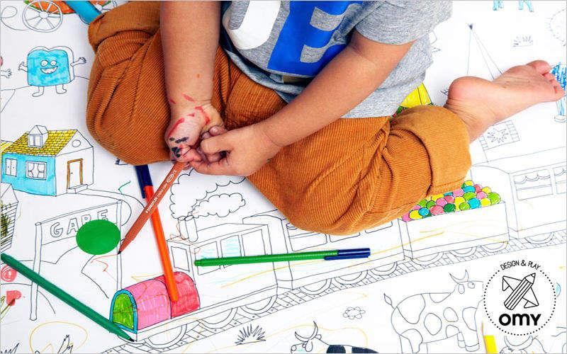 OMY Carnet de coloriage Divers enfant Enfant Chambre d'enfant | Design Contemporain
