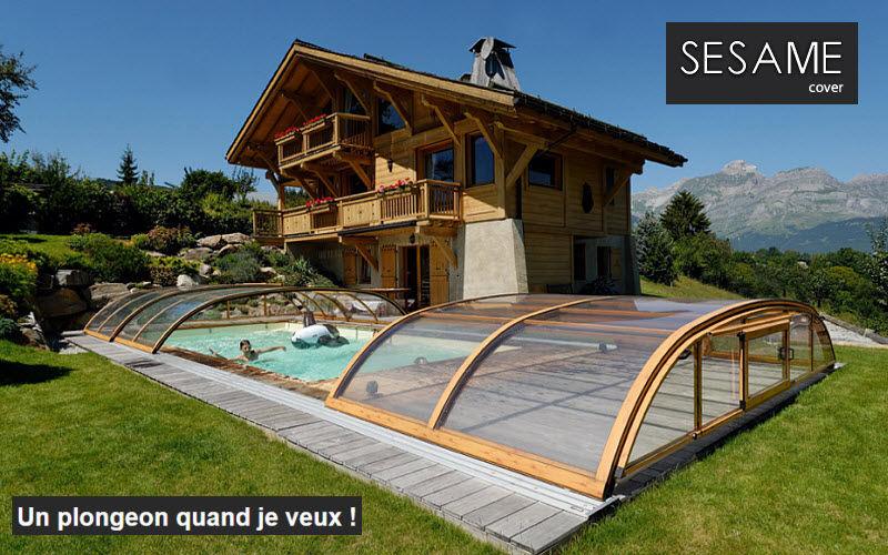 SESAME COVER Abri de piscine bas coulissant ou télescopique Abris de piscine et spa Piscine et Spa  |