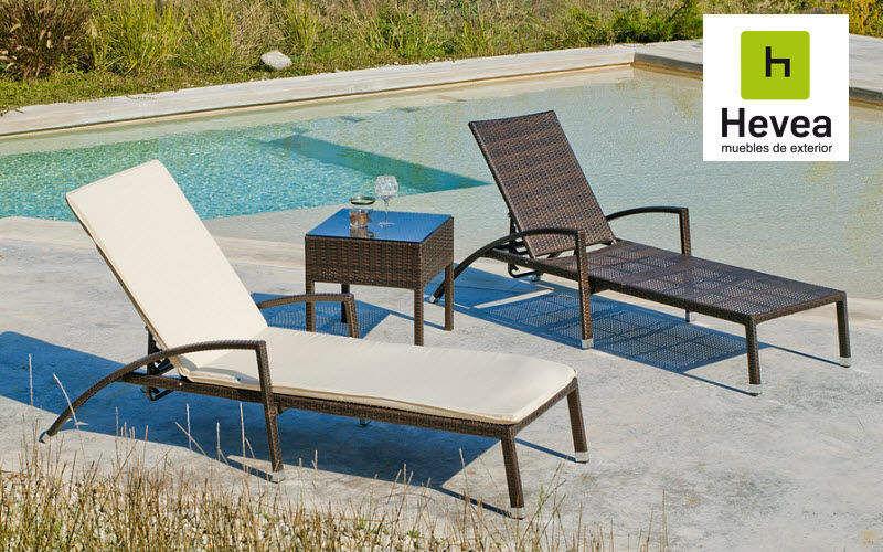 HEVEA Chaise longue de jardin Chaises longues Jardin Mobilier  |