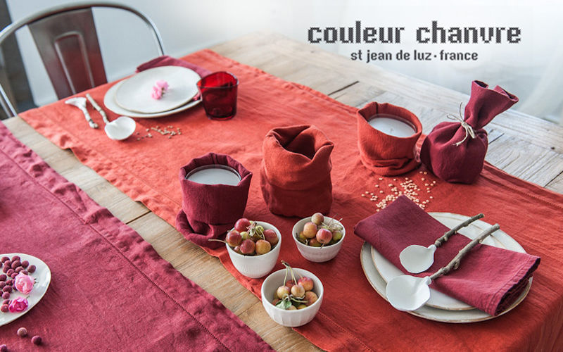Couleur Chanvre Vis-à-vis Nappes Linge de Table  |