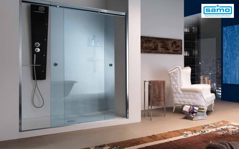 Porte de douche coulissante douche et accessoires decofinder - Accessoires porte coulissante ...