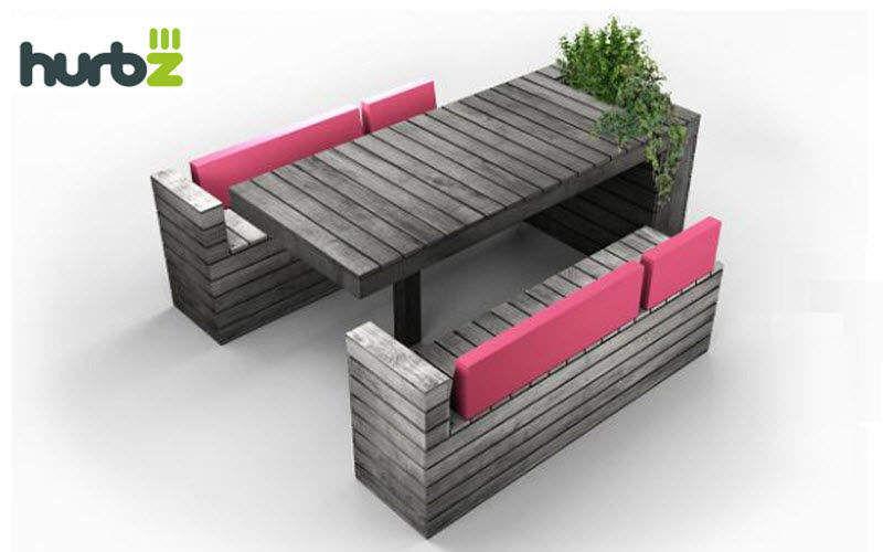 HURBZ Salle à manger de jardin Tables de jardin Jardin Mobilier  |