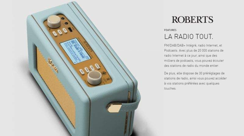 ROBERTS RADIO Radio portable Hifi & Son High-tech  |