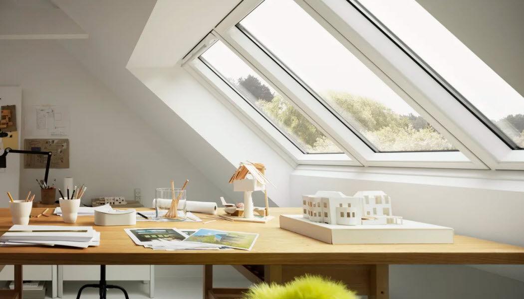 VELUX Fenêtre de toit Fenêtres Portes et Fenêtres Bureau | Design Contemporain