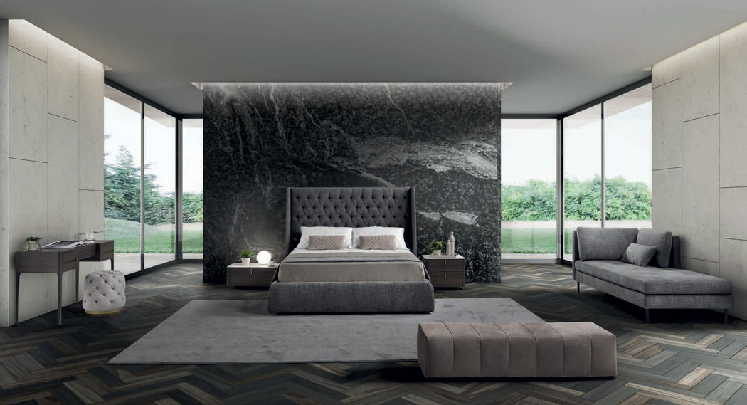 CONTE BED Lit double Lits doubles Lit Chambre | Design Contemporain