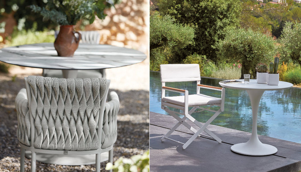 Sifas Table de jardin ronde Tables de jardin Jardin Mobilier  |