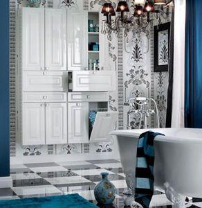 Colonne de rangement double de salle de bains