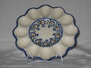 Ceramique Polonaise Assiette à oeufs