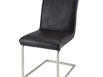 MEUBLES ZAGO - chaise tokyo - lot de 2 - marron - Chaise