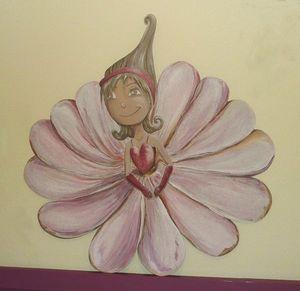 sandrine takacs decors - lili petite fleur - Tête De Lit Enfant