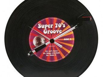 Karlsson Clocks - karlsson - horloge spinning record groovy 70's - - Horloge Murale