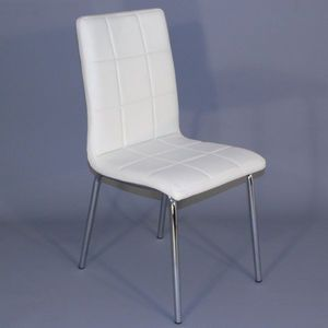 Smart Boutique Design - chaises simili cuir matelassées batz blanches lot  - Chaise