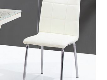 CLEAR SEAT - chaises crème calice lot de 6 - Chaise
