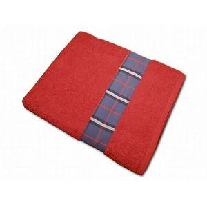 CLARA LINGE - serviette éponge rouge claraberry 520 gr - Serviette De Toilette