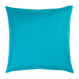 TROIS MAISON - coussin feuille bleue format 65 x 65 cm - Coussin Carr�
