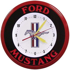 US Connection - horloge néon mustang bandeau - Horloge Murale