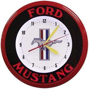 US Connection - horloge néon mustang bandeau - Horloge Murale