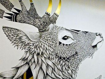 A&M - cerf - Revêtement Mural