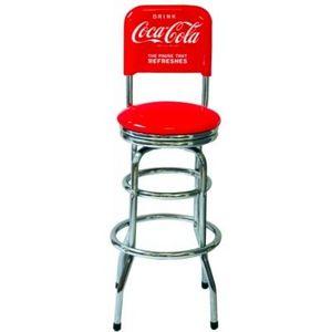 Avenue Of The Stars - chaise de bar coca cola - Chaise Haute De Bar