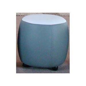 International Design - pouf bicolore rond - couleur - gris - Pouf