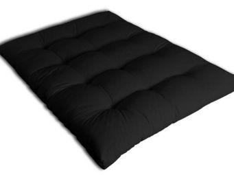 Futon Design - matelas 140 x 190 cm futon noir - Matelas À Ressorts