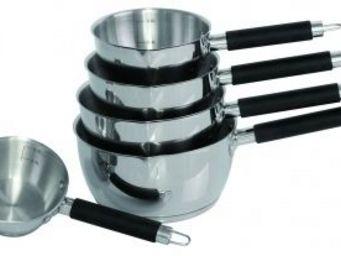 SCHUMANN PROFESSIONNEL - 5 casseroles silicone manche noir schumann profess - Casserole