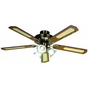 FARELEK - ventilateur de plafond � 132 cm, 5 pales noyer/can - Ventilateur De Plafond