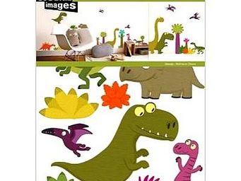 Nouvelles Images - sticker mural dinosaure - Gommettes