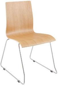 KOKOON DESIGN - chaise prestige en bois et acier chromé 46x39x85cm - Chaise