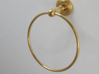 Cristal Et Bronze - ciselé - Anneau Porte Serviette