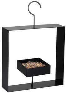 BEST FOR BIRDS - mangeoire soucoupe à crochet en métal noir 24x30x6 - Mangeoire À Oiseaux