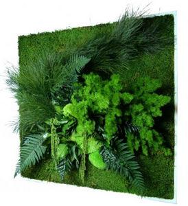 FLOWERBOX - tableau nature carré xl avec plantes stabilisées 8 - Tableau Végétal