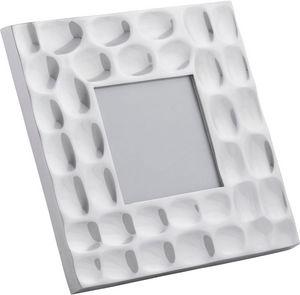KOKOON DESIGN - cadre photo carré design en aluminium poli 37x17x3 - Cadre Photo