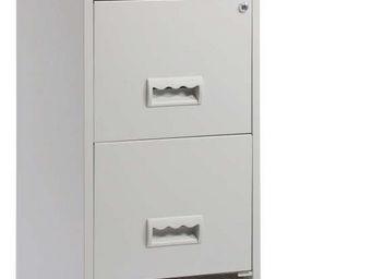 jardindeco - colonne de rangement tiroirs en métal gris clair - Classeur À Tiroirs