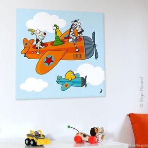 SERIE GOLO - toile imprimée ça plane 60x60cm - Tableau Décoratif Enfant