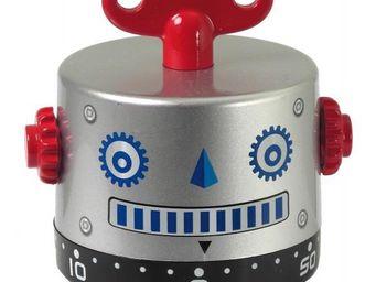 INVOTIS - minuteur robot argent - Minuteur