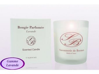Savonnerie De Bormes - bougie parfumée - lavande - 165 g - savonnerie de - Bougie Parfumée