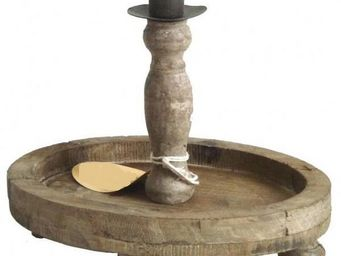 L'HERITIER DU TEMPS - 2 chandeliers à poser en bois - Bougeoir