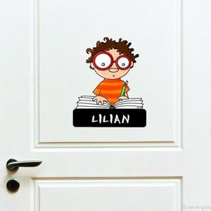 SERIE GOLO - enseigne de porte garçon - Sticker Décor Adhésif Enfant