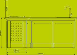 NOBLINOX - cuisine d'angle / personnalisable - Cuisine D'extérieur